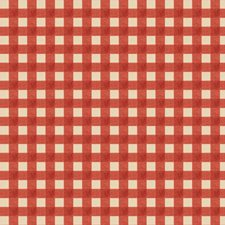 Coral Check Drapery and Upholstery Fabric by Fabricut
