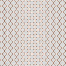 Orange Lattice Drapery and Upholstery Fabric by Trend