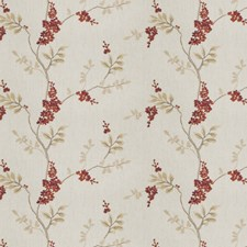 Garnet Embroidery Drapery and Upholstery Fabric by Fabricut