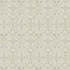 Blue Medallion Drapery and Upholstery Fabric by Vervain
