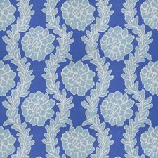 Periwinkle Blue Floral Drapery and Upholstery Fabric by Stroheim