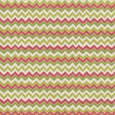 Green Pink Print Pattern Drapery and Upholstery Fabric by Stroheim