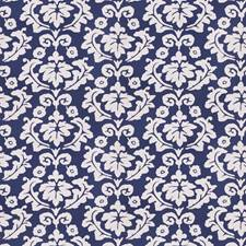 Navy Floral Drapery and Upholstery Fabric by Stroheim