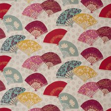 Mulberry Asian Drapery and Upholstery Fabric by Fabricut
