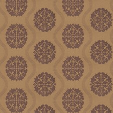 Lilac Medallion Drapery and Upholstery Fabric by Trend