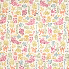 Mango/Magenta Animal Drapery and Upholstery Fabric by Vervain