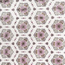 Purple Heather Embroidery Drapery and Upholstery Fabric by Vervain