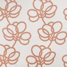 Pumpkin Print Pattern Drapery and Upholstery Fabric by Vervain