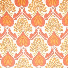 Papaya Geometric Drapery and Upholstery Fabric by Vervain