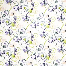 Orchid Floral Drapery and Upholstery Fabric by Vervain