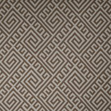 Mocha Geometric Drapery and Upholstery Fabric by Vervain