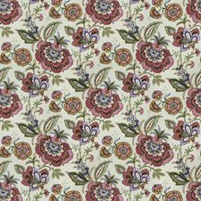 Mulberry Floral Drapery and Upholstery Fabric by Vervain