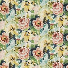 Ribbon Floral Drapery and Upholstery Fabric by Stroheim