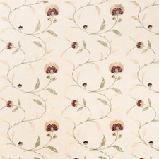 Beige Embroidery Drapery and Upholstery Fabric by Trend