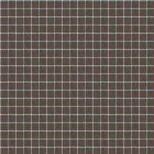 Turquoise Check Drapery and Upholstery Fabric by Fabricut