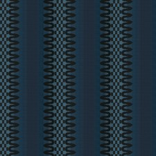 Night Blue Geometric Drapery and Upholstery Fabric by Vervain