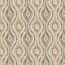 Teal Global Drapery and Upholstery Fabric by Trend