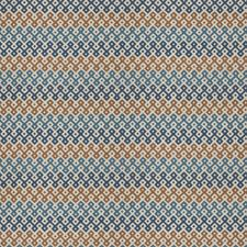 Blue Spruce Geometric Drapery and Upholstery Fabric by Stroheim