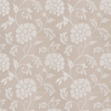 Oyster Shell Floral Drapery and Upholstery Fabric by Stroheim