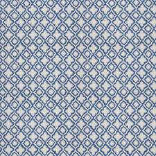 Ultramarine Geometric Drapery and Upholstery Fabric by Stroheim