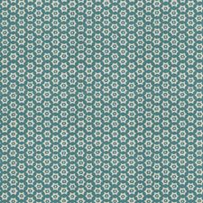 Viridian Geometric Drapery and Upholstery Fabric by Stroheim