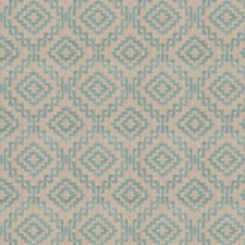 Kashi Blue Geometric Drapery and Upholstery Fabric by S. Harris