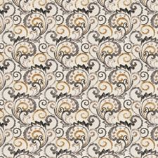 Latte Floral Drapery and Upholstery Fabric by Fabricut