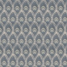 Blue Animal Drapery and Upholstery Fabric by Trend