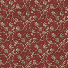 Crimson Floral Drapery and Upholstery Fabric by Fabricut