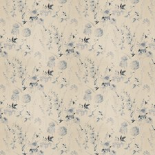 Blue Mist Floral Drapery and Upholstery Fabric by Vervain