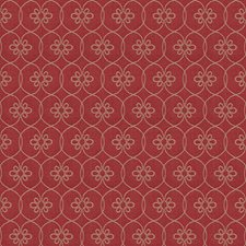 Red Lattice Drapery and Upholstery Fabric by Fabricut