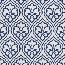 Cobalt Medallion Drapery and Upholstery Fabric by Fabricut