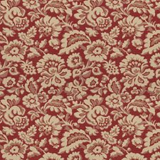 Antique Red Floral Drapery and Upholstery Fabric by Fabricut