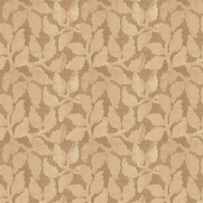 Ecru Leaves Drapery and Upholstery Fabric by Fabricut