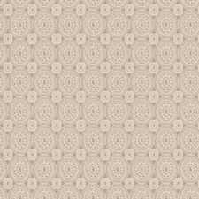 Soft Gold Medallion Drapery and Upholstery Fabric by Stroheim