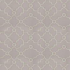 Grey Embroidery Drapery and Upholstery Fabric by Fabricut