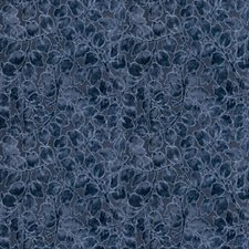 Blue Topaz Leaves Drapery and Upholstery Fabric by Stroheim