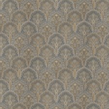 Blue Topaz Flamestitch Drapery and Upholstery Fabric by Stroheim