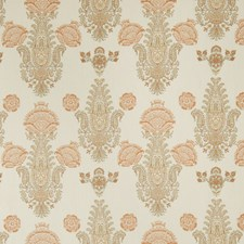 Pumpkin Paisley Drapery and Upholstery Fabric by Stroheim