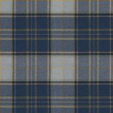 Indigo Check Drapery and Upholstery Fabric by Stroheim