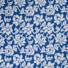 Cobalt Floral Drapery and Upholstery Fabric by Stroheim