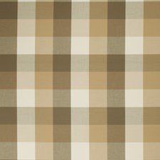 Natural Check Drapery and Upholstery Fabric by Stroheim