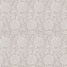 Silver Floral Drapery and Upholstery Fabric by Trend