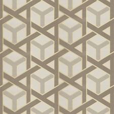 Gold Lattice Drapery and Upholstery Fabric by Fabricut