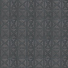 Pewter Geometric Drapery and Upholstery Fabric by Stroheim