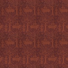 Cinnabar Animal Drapery and Upholstery Fabric by Vervain