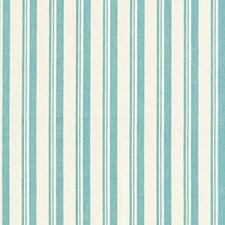 Aqua/White Drapery and Upholstery Fabric by Schumacher