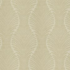 Cream Leaves Drapery and Upholstery Fabric by Fabricut