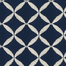 Navy Embroidery Drapery and Upholstery Fabric by Fabricut