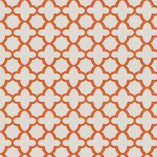 Orange Geometric Drapery and Upholstery Fabric by Stroheim
